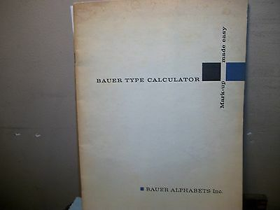 Bauer Type Calculator,bauer Alphabets Inc.type,printing,hand Set Type