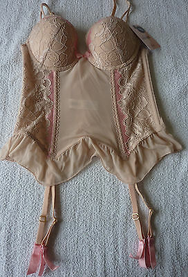 Guepiere femme Corset beige TAILLE 90B neuf Promise