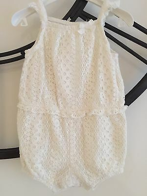 H&M Baby Girl Lace Romper Size 0