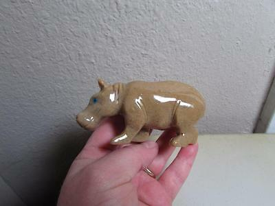 "Hippopotamus, Hand carved Marble from the Andes. Rich Colored Stone ""HIPPO"""