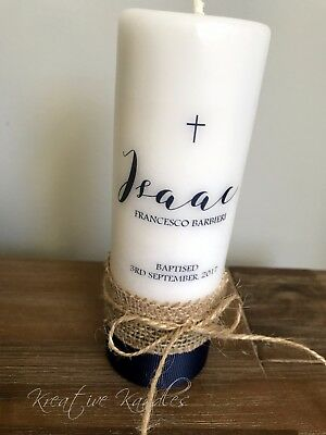 Personalised Christening Candle / Baptism Candle or Naming Day Candle #S9
