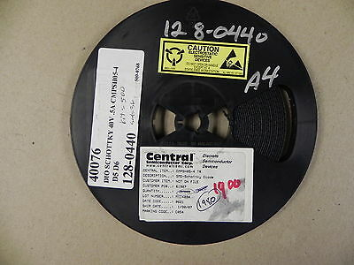 Central Semiconductor CMPSH05-4 Diode schottky 40V 500mA SMD 1900Pcs New
