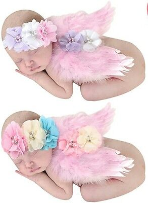UK seller newborn baby wings headband photo shoot Photography baby shower gift