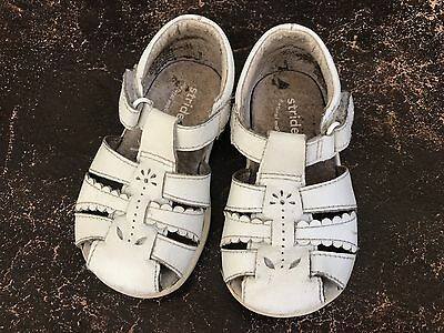 STRIDE RITE WHITE LEATHER SANDAL TODDLER GIRL Sz 5 W Wide