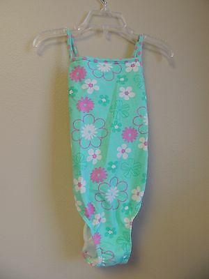 Girl Friends Size 6X Girls One Piece Swimsuit Floral Print NWT New