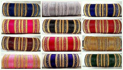 Indian tradition Ethnic 48pc bangles Fashion Jewelry size 2.6,2.8,2.10,2.12,2.14