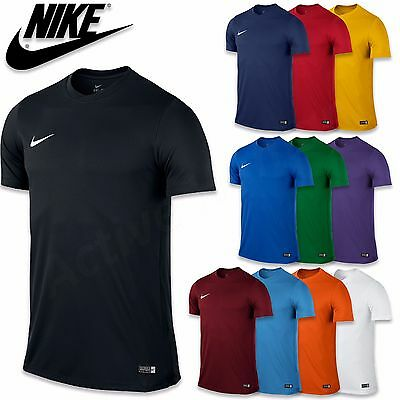 Nike Mens T-Shirt Park Football Jersey Tee Training Top Boys Gym Size S M L XL