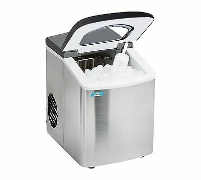 NIB Mr. Freeze Portable Automatic Stainless Steel Ice Machine MIM-18 26 Lbs.