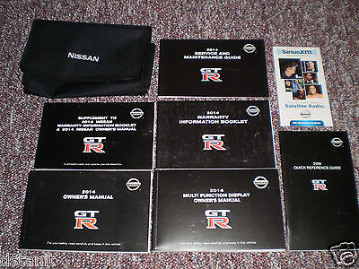 2014 Nissan Gt-R Gtr Complete Car Owners Manual Books Navigation Guide Case All