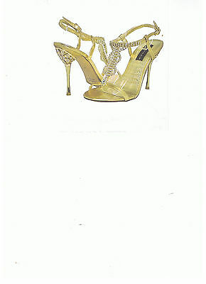 shoe  new in box  gold  size  8  for prom or  any  were church
