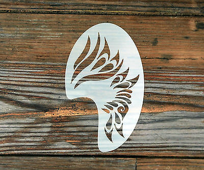 Tribal Face Paint Festival Party Stencil approx 12cm x 8cm  Washable n Reusable