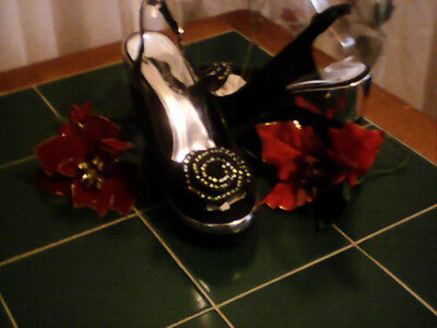 shoes  new in box  wage  81/2  black and silver .