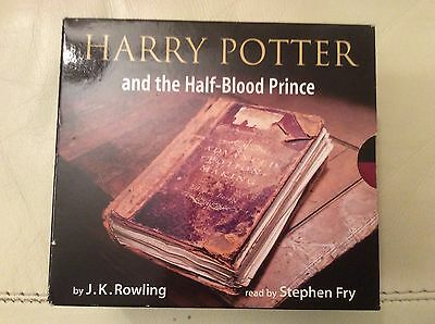 Harry Potter And The Half Blood Prince Audio CD Book Read By Steven Fry
