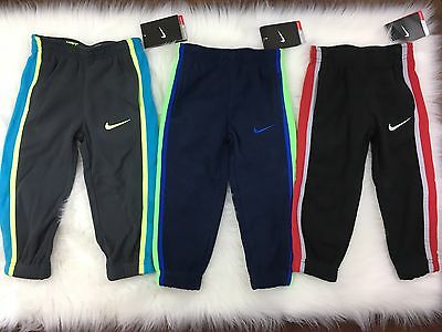 Lot Of 3 Nike NWT Kids Toddler Boys Athletic Sport Fleece Pants Size 2T