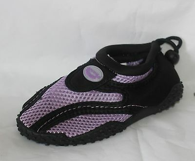 Children Easy USA Wave Water Shoes BLK/PUR - G1185-BLKPUR