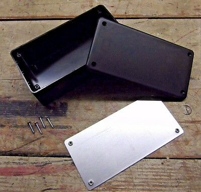 "6"" DIY Black ABS Plastic Electronic Project Enclosure 6"" x 3"" x 2"" New Surplus!!"