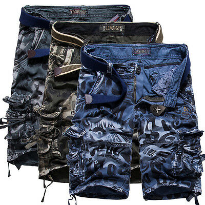 36 38 Mens Military Casual Pocket Cargo Shorts Combat Camo Vintage Cargo Pants