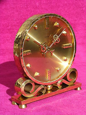 Pendule massive Luxor 8 days 15 jewels bronze doré clock no Hour Lavigne Jaeger