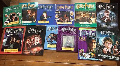 Bundle / Job Lot x12 Harry Potter Poster / Coloring / Movie Books