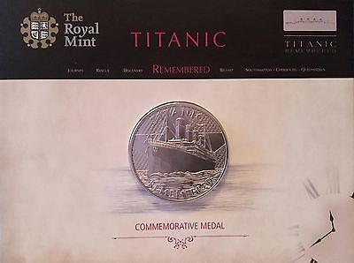 TITANIC REMEMBERED. Royal Mint Medal, Limited Edition Commemorative Issue. 38mm.