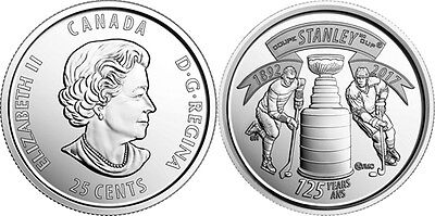 CANADA 2017 STANLEY CUP 125TH Anniversary Quarter 25-Cent Coin (5) Pack