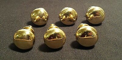 6 Solid Brass Cabinet/Drawer Knobs or Pulls