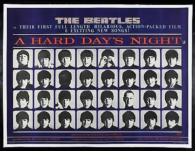 A HARD DAYS NIGHT ✯ BEATLES CineMasterpieces ORIGINAL UK MOVIE POSTER 1964 DAY'S