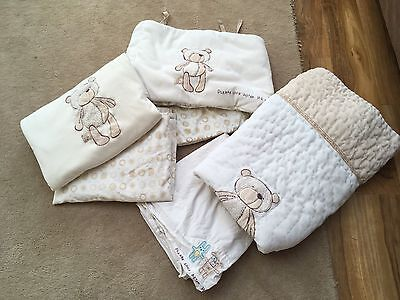 Mothecare Please Look After Me Cot Bed Set And Cot Bumper