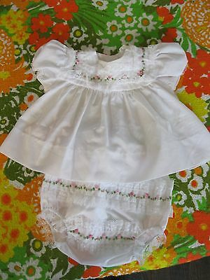 Vintage Alexis Baby Girl 2 Piece Dress And Panties Size 3 Months Adorable