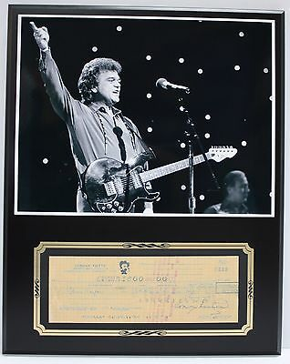 Conway Twitty Signed Bank Check Reproduction With Photo Display - USA Ships Free