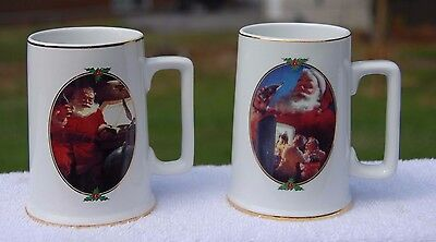 1996 Coca Cola Collector Edition set of 2 mugs