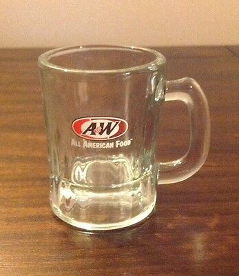 """Vintage A&w Root Beer Miniature Mug Glass Stein Child's Mini Size 1960's 3.25"""""""