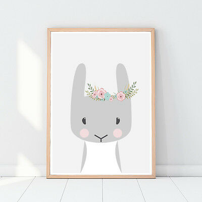 Woodland animals, Bunny, Rabbit, Nursery decor, Nursery animal, Nursery decor