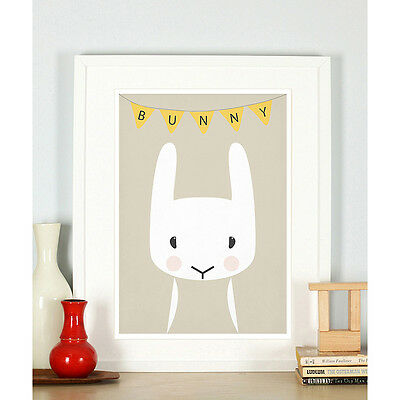 Animal nursery art, Woodland animals, Bunny, Nursery decor, Nursery animal
