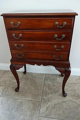 Queen Anne Style Cherry Silverware Chest of Drawers