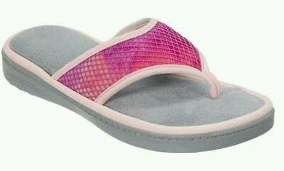 NEW Dearfoams Women's Active Mesh Thong Slippers Size Large (9-10)