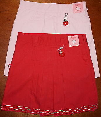 Nwt Girls Gymboree Lot~12~Apple Red Pleated Skort~Pastel Pink~School Uniform