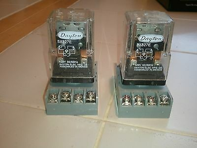 Lot of 2 Dayton 5X827E 120V coil 12A Relay Double Pole Double Throw