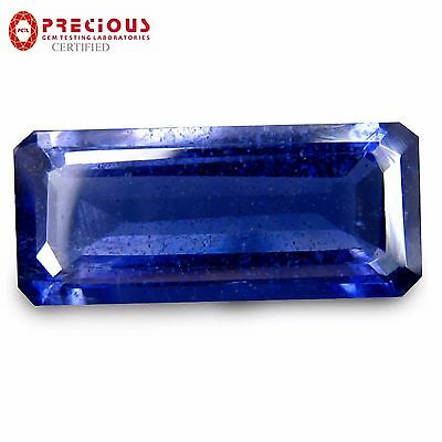 3.77 ct PGTL Certified AAA+ Superb Emerald (15 x 7 mm) Un-Heated Blue Iolite