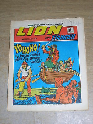 Lion & Thunder 2nd February 1974