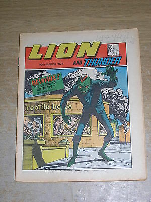 Lion & Thunder 10th March 1973