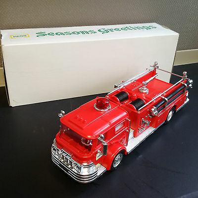 Extremely Rare 1971 HESS 'Season's Greetings' Fire Truck, Mint Condition