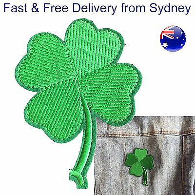 Good luck clover Iron on patch Irish St Patrick leaf lucky embroidery patches