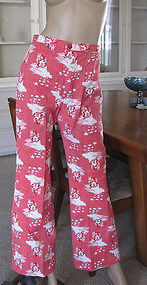 1970's QUEEN'S WAY TO FASHION Boho High Waist Castles Bell Bottoms Size 6
