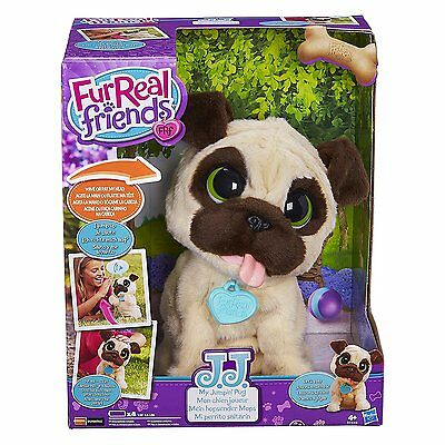 Fur Real Friends JJ My Jumping Pug Pet Toy Electronic Interactive Fun Play Game
