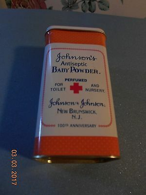 Vintage Johnson'S Antiseptic Baby Powder 100Th Anniversary Tin