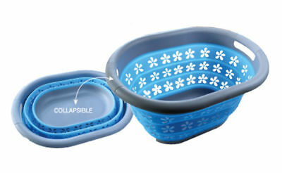 Collapsible Silicone Laundry Basket Caravan Camping Home Accessories