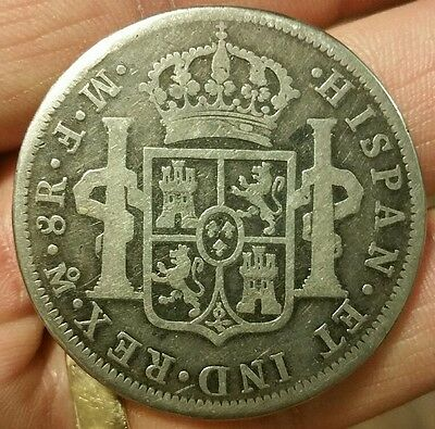 Mexico 1772 8 Reales MF Inverted Contemporary Extremely Rare N0T Silver n0t reaI