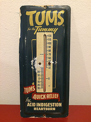 Vintage Tums for the Tummy Advertising Thermometer   **Free Shipping*