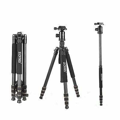 ZOMEI Z688C Carbon Fiber Tripod Monopod&Ball Head for Canon Nikon DSLR camera